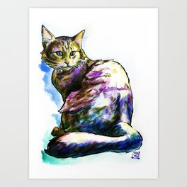 Ms. KittyLittleHead Art Print