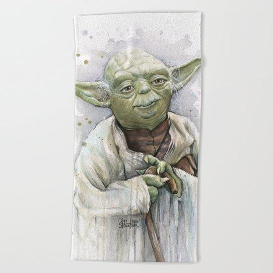 Yoda Beach Towel