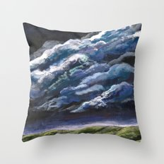 Small Dog, Big Sky Throw Pillow