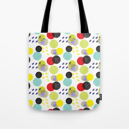 Dots party colorful bubble pattern design combined textures wrap Tote Bag