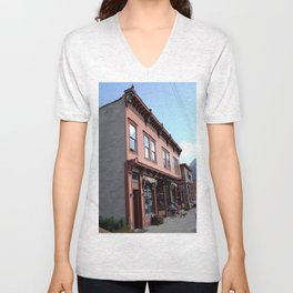 "On Greene Street - The ""Main Drag"" of Silverton, No. 1 of 3 Unisex V-Neck"
