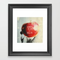 Be a Good One. Framed Art Print
