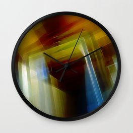 Abstract Composition 420 Wall Clock