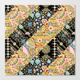 Crazy Patchwork Triangles Canvas Print