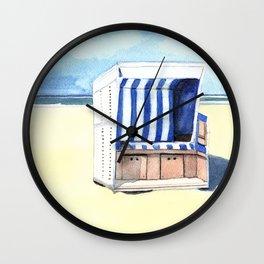 Sylt Watercolor Beach Painting Wall Clock