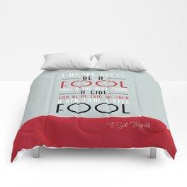Great Gatsby -  Beautiful little fool  Comforters