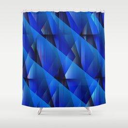 Blue Waves Shower Curtain