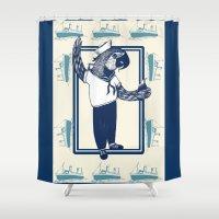 sailor Shower Curtains featuring Sailor by SOFAR SOGOOD