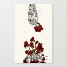 Blood Flowers anatomical collage by bedelgeuse Canvas Print