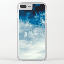 Thunderous Skies Clear iPhone Case