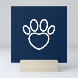 Dog Paw with Heart Dog Lover & owner cynophilist gift Mini Art Print