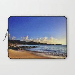 Antigua & Barbuda - Turquoise Water on the Beach in the Fading Afternoon Sun Laptop Sleeve