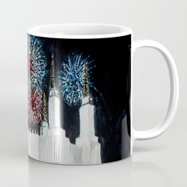 Washington DC LDS Temple Fireworks Coffee Mug