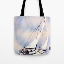 Sydney  to Hobart  Yacht Race        by Kay Lipton Tote Bag