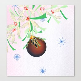 Tinsel and Bauble Canvas Print