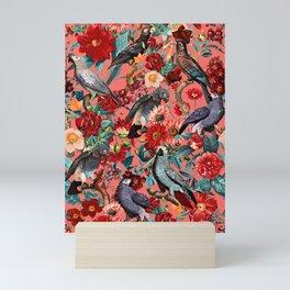 FLORAL AND BIRDS XIX Mini Art Print