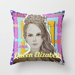 (Queen Elizabeth - Lana) - yks by ofs珊 Throw Pillow