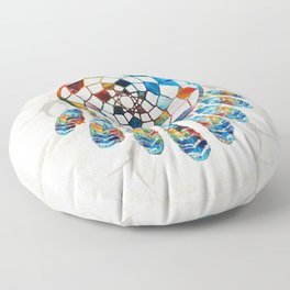 Native American Colorful Dream Catcher by Sharon Cummings Floor Pillow