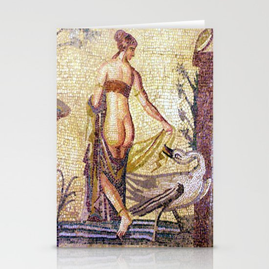 Roman Mosaic Paphos Cyprus Stationery Cards