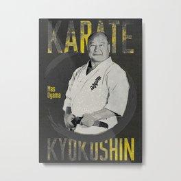 Karate Kyokushin Mas Oyama, Masutatsu Oyama Karate Kyokushin Master Metal Print