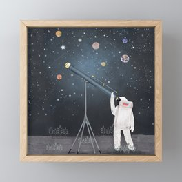Astronaut Astrology Framed Mini Art Print