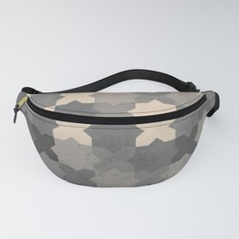 Ceramic tile seamless pattern design - Gray & Beige Fanny Pack