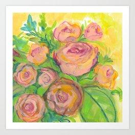 Radiant Bouquet Art Print