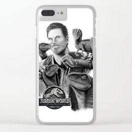 Owen and Raptors Clear iPhone Case