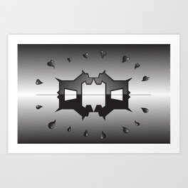 puppy love ink blot (Rorschach) Art Print