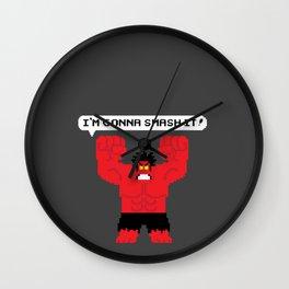 I'm Gonna Smash It! Red Hulk Alt. Wall Clock