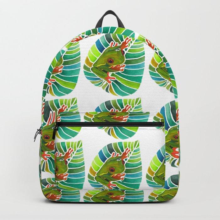 Frog On A Leaf Backpack