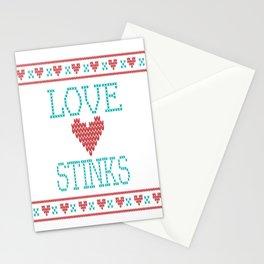Love Stinks Cross Stitch Stationery Cards