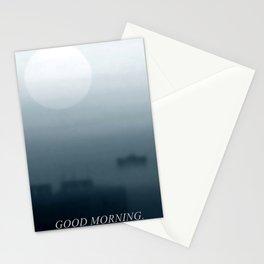 Sieben Uhr MEZ. am Morgen. Stationery Cards