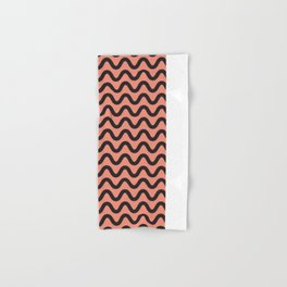 Coral Ripple Hand & Bath Towel