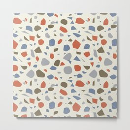 Colorful Terrazzo Pattern Metal Print