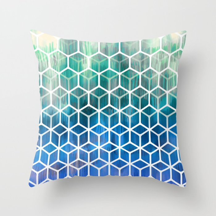 The Geometry Of Bees And Boxes Cobalt Blue Emerald