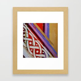 Celtic Knot with Autumn Colors Framed Art Print