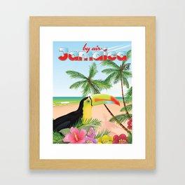 "by Air ""jamaica"" Framed Art Print"
