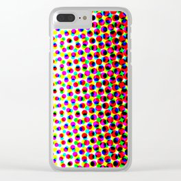 dotted matrix Clear iPhone Case