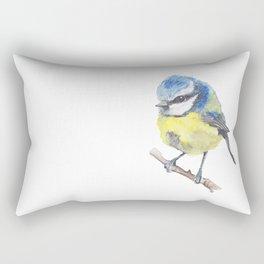 Fluffy Bluetit Rectangular Pillow