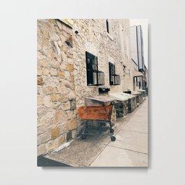orange cart, alone Metal Print