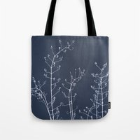 reassurance Tote Bags featuring Jasmine In the Still of the Night by tanjica