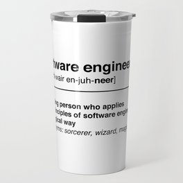 Software Engineer definition Travel Mug