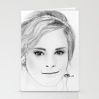 emma watson Stationery Cards featuring Emma Watson by Paint the Moment