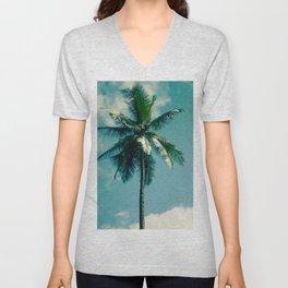Niu Hawaiian Tropical Coconut Palm Tree Keanae Maui Hawaii Unisex V-Neck