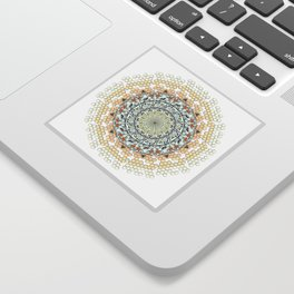 Overlapping Bee Mandala (Color) Sticker