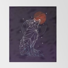 Fox in the Stars Throw Blanket