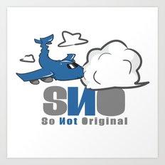 S.N.O Plane Killing Cloud Art Print