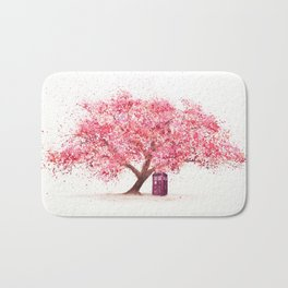Tardis Tree Art Blossom Bath Mat