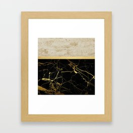 Gold and Marble Stripes 2 Framed Art Print